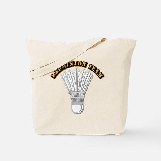 Badminton Team Tote Bag
