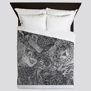 Were All Mad Here Queen Duvet