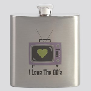 I Love The 80s Flask