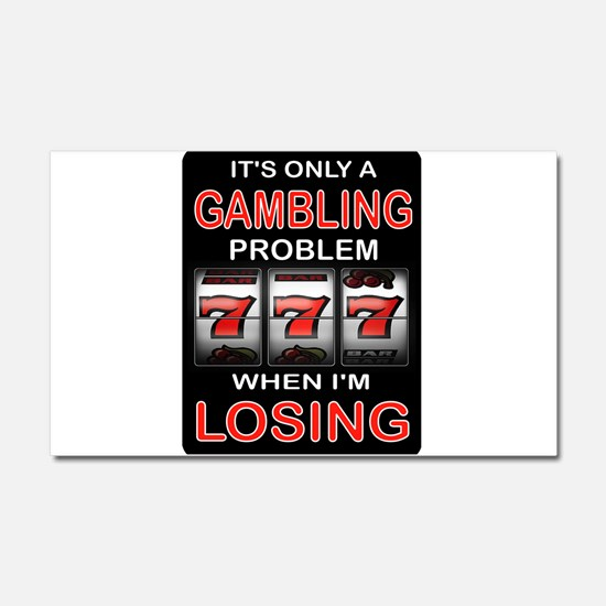 GAMBLING Car Magnet 20 x 12