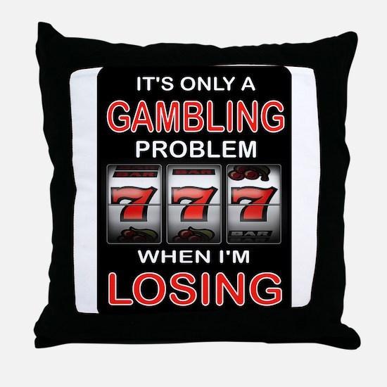 GAMBLING Throw Pillow