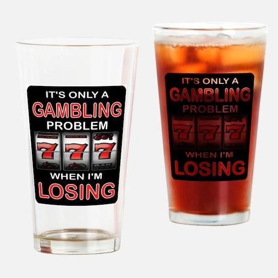 GAMBLING Drinking Glass