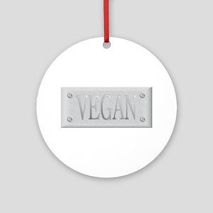 Vegan Steel Plate Ornament (Round)