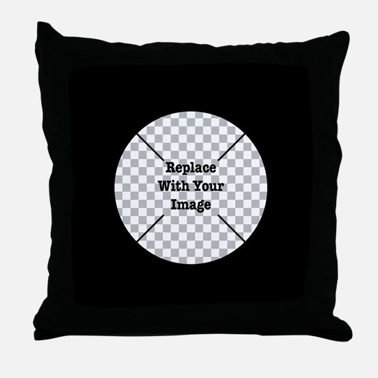 Customizable Black Throw Pillow