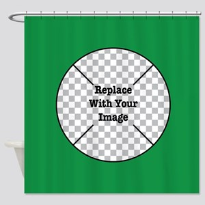 Customizable Green Shower Curtain