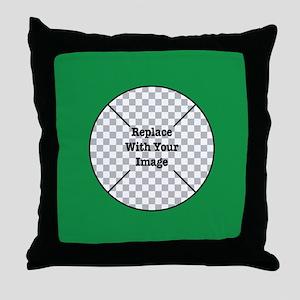 Customizable Green Throw Pillow