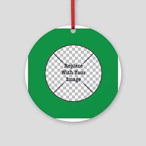 Customizable Green Ornament (Round)