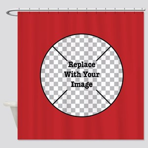 Customizable Red Shower Curtain