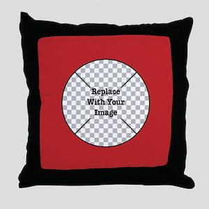 Customizable Red Throw Pillow