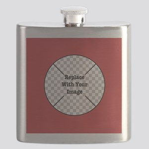 Customizable Red Flask