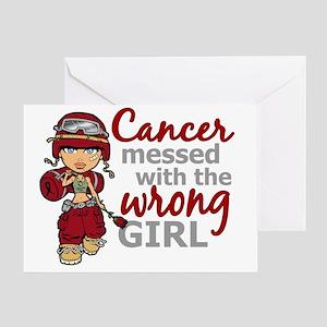 Combat Girl Multiple Myeloma Greeting Card