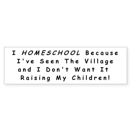 Homeschool Bumper Sticker