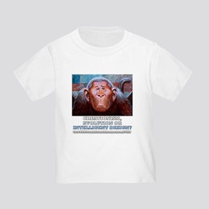Creationism, Evolution or ID Monke Toddler T-Shirt