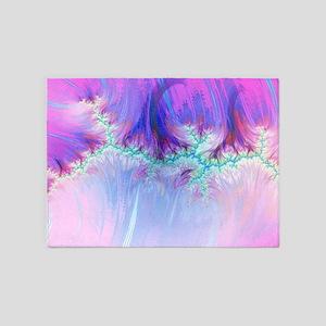 fractal duocolor pink 5'x7'Area Rug