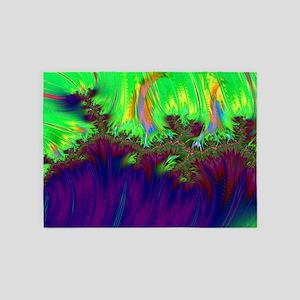 fractal duocolor purple 5'x7'Area Rug