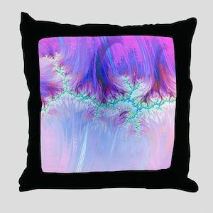 fractal duocolor pink Throw Pillow