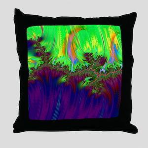 fractal duocolor purple Throw Pillow