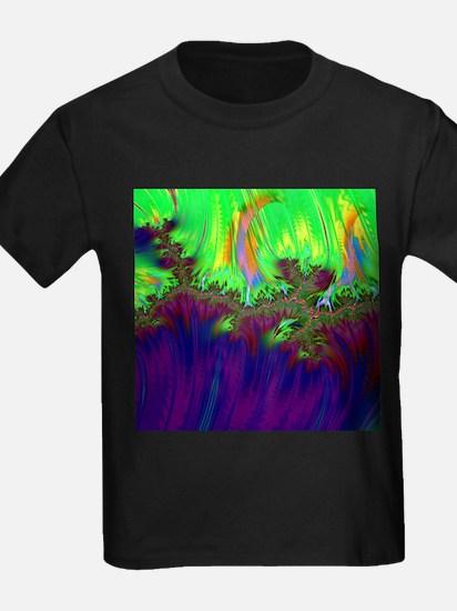 fractal duocolor purple T-Shirt