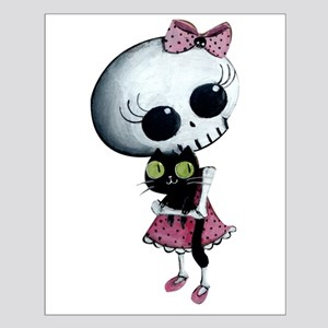 Little Miss Death with black cat Posters