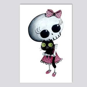 Little Miss Death With Postcards (Package Of 8)
