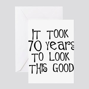 70 Years To Look This Good Greeting Cards Package
