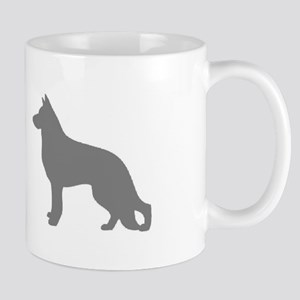 german shepherd gray 2 Mugs