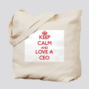 Keep Calm and Love a Ceo Tote Bag