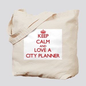 Keep Calm and Love a City Planner Tote Bag