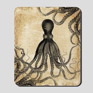 Vintage Octopus Mousepad
