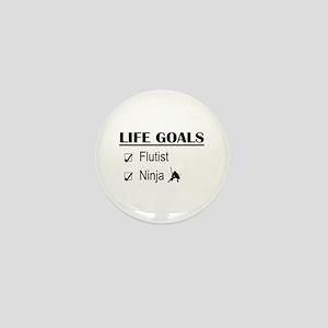 Flutist Ninja Life Goals Mini Button