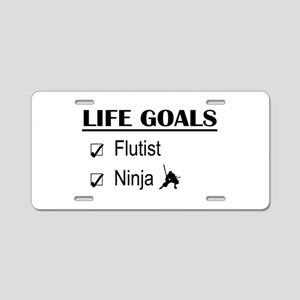 Flutist Ninja Life Goals Aluminum License Plate