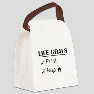 Flutist Ninja Life Goals Canvas Lunch Bag