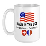 Swiss and French Large Mug