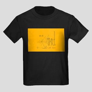Pioneer Plaque Pluto Fix V4 Kids Dark T-Shirt