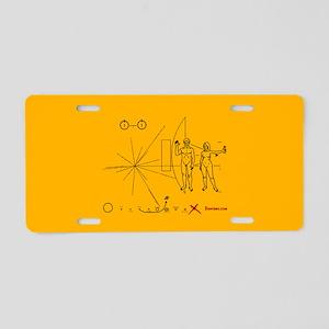 temp Aluminum License Plate