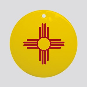Flag of New Mexico Ornament (Round)