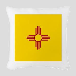 Flag of New Mexico Woven Throw Pillow