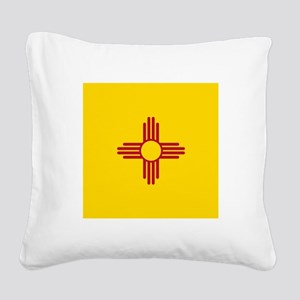 Flag of New Mexico Square Canvas Pillow