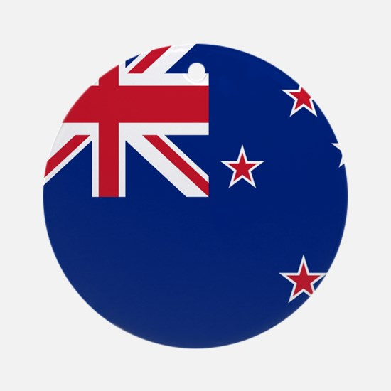 Flag of New Zealand Ornament (Round)