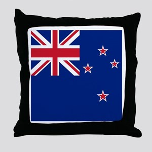 Flag of New Zealand Throw Pillow