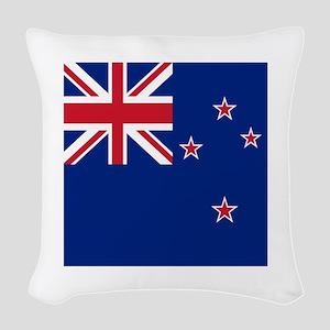 Flag of New Zealand Woven Throw Pillow