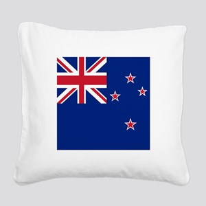 Flag of New Zealand Square Canvas Pillow