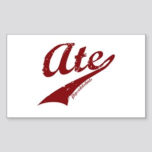 Ate Rectangle Sticker