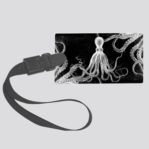 Vintage Octopus Dark Luggage Tag