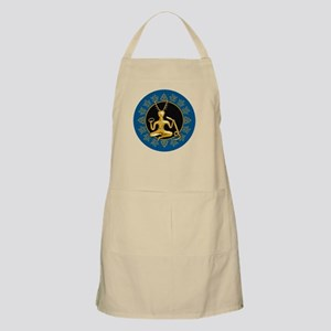 Gold Cernunnos With Snake in Circle- 1 Light Apron