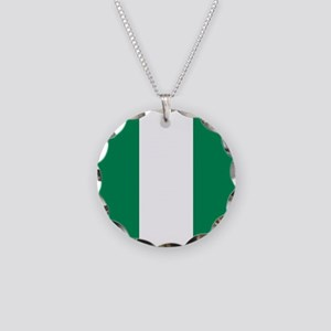Flag of Nigeria Necklace Circle Charm