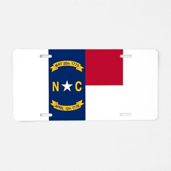 Flag of North Carolina Aluminum License Plate