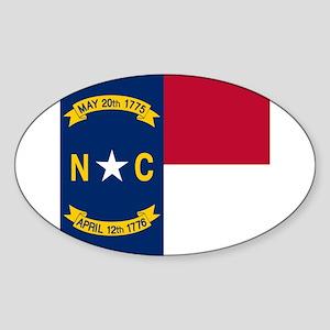 Flag of North Carolina Sticker