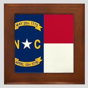 Flag of North Carolina Framed Tile