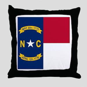 Flag of North Carolina Throw Pillow